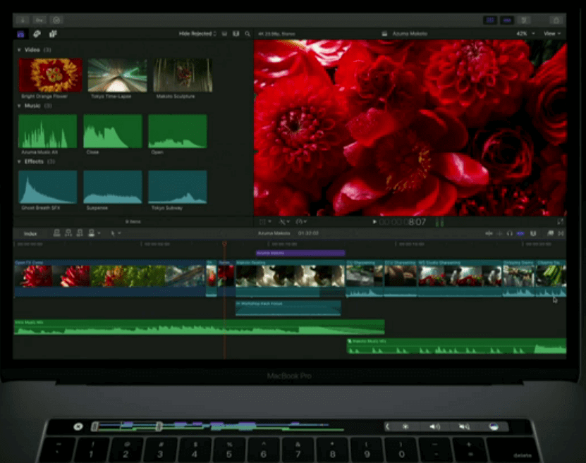 Touch Bar Final Cut Pro